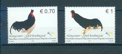 Kosovo 2011 Roosters Mnh Very Fine