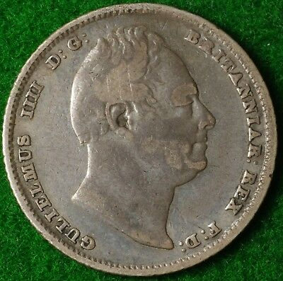 1834 Sixpence in reasonable collectable condition FREE UK POSTAGE