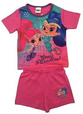 Shimmer and Shine Short Girls  Pyjamas Pjs Sleepwear Age 18 Months  to 5 Yrs