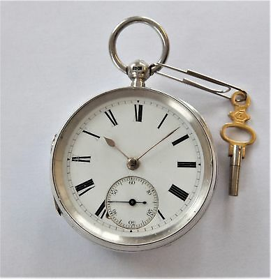1886 Silver Cased Fusee Chain Driven Pocket Watch In Working Order