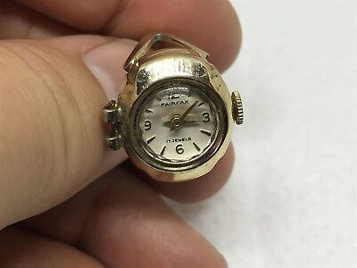 Vintage Fairfax Gold-Tone Ring Watch (for repair)