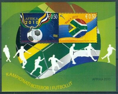 Kosovo 2010 S/s 2010 World Soccer Championships South Africa Mnh Very Fine