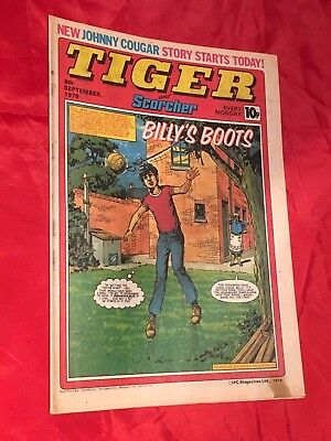 TIGER&SCORCHER-WEEKLY BRITISH COMIC-8th SEPT 1979-ROSCOE TANNER & FOOTBALL TEAM