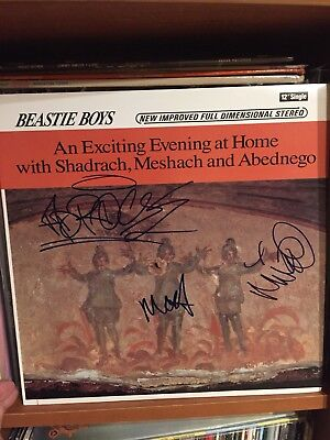 "Beastie Boys Signed Shadrach 12"" Vinyl In Person Auto Autographed Adam Yauch MCA"