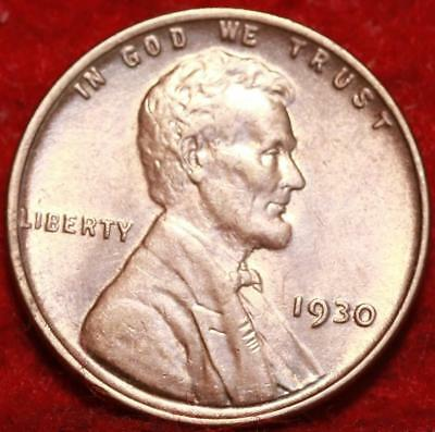 Uncirculated 1930 Philadelphia Mint Copper Lincoln Wheat Cent