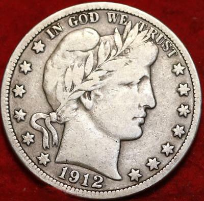 1912-S San Francisco Mint Silver Barber Half Dollar