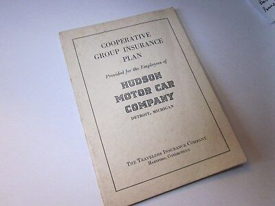 Hudson Motor Car Company Cooperative Group Insurance Plan 1942