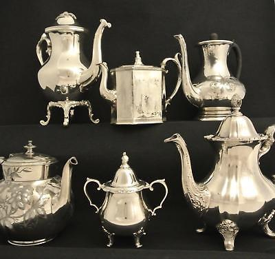 Lot Victorian & Vintage Silver Plate East Lake Aesthetic Coffee Pot Tea Pot