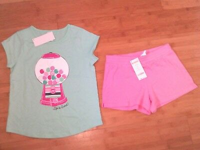 NWT Gymboree Girls Size S 5-6 Bubblegum Outfit - Tee / Top & Shorts NEW