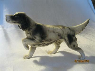 "Beautiful Vintage English Setter Dog Figure 9"" Long Ucagco Excellent Condition"