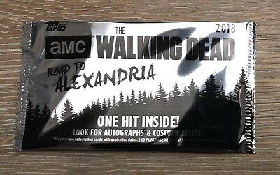 1/1 SKETCH CARD! Blaster Hot Pack 2018 Topps The Walking Dead Road To Alexandria