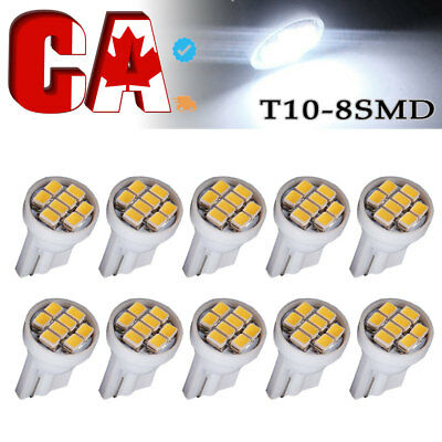 10 PCS white 1206 T10 8smd led 194 168 192 W5W Super Bright Car lighting wedge