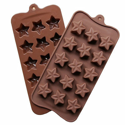 15 Hole Silicone Star Shape Mould Ice Candy Chocolate Cake Baking Mold Pop