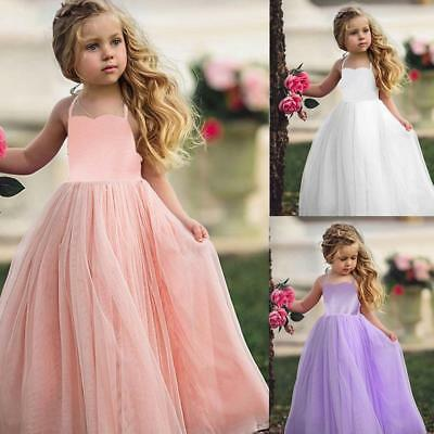 Kids Toddler Baby Girl Wedding Pageant Party Princess Tutu Dress Prom Ball Gown