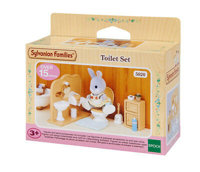 Sylvanian Families Furniture & Accessories 5020 Toilet Set /3+ Brand New In Box