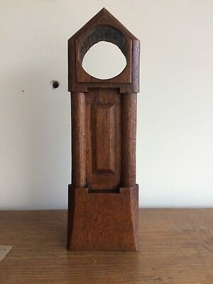 Antique Arts & Crafts Oak Mantle Top Clock Case C1900