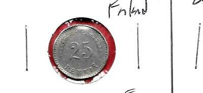 Finland Km25 1921 Fine-Nice Old Vintage Antique 25 Pennia Coin
