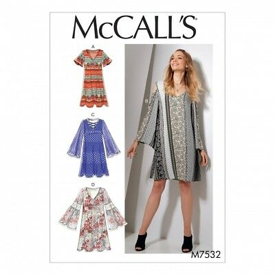 2befd64869c9 MCCALLS LADIES EASY Sewing Pattern 7407 Flared Knit Top   Dress ...