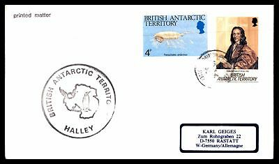 BRITISH ANTARCTIC TERRITORY 1990s HALLEY STATION COMBINATION 1990s CACHET ON UNS