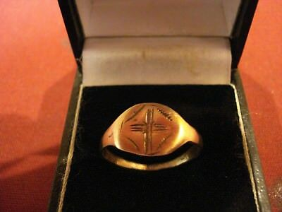 Ancient Roman / Byzantine Ring With 'cross'--Detector Find