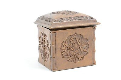 Beautiful engraved wooden cigarette holder with hinge and lid     (JBW 127)