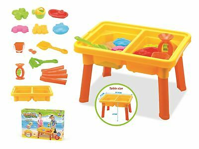 Vinsani 17PC Kids Sand & Water Activity Play Table Set with Accessories