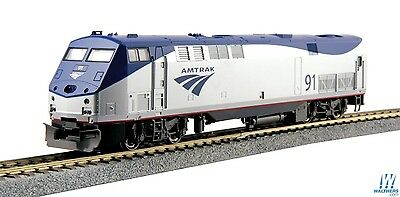 HO Scale - KATO 37-6108 AMTRAK Phase Vb GE P42 # 91 with Ditch Lights DC Analog