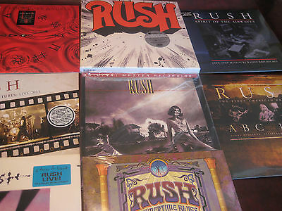 Rush Collection W/ Mfsl Permanent Waves + Moving  - Live - Clockwork 34 Lpset
