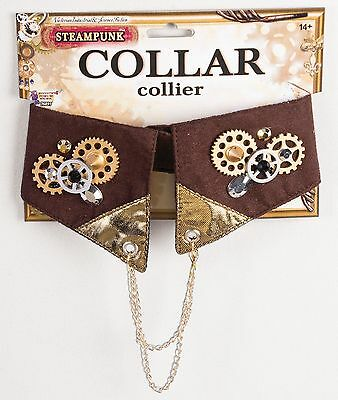 STEAMPUNK VICTORIAN CLOCK GEARS CHAINS LACE WRISTLET COSTUME ACCESSORY GLH180078