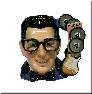 ROYAL DOULTON Buddy Holly D7100 Large Character Jug - 1998 Limited Edition