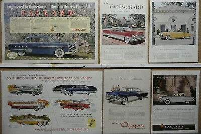 Packard Ad Lot (13); Print ads 1951 1952 1953 1954 1955 1956