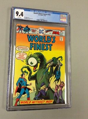 World's Finest Comics 233, Cgc 9.4 (Nm), 1975 Dc Comics, White Pages, Cool Cover