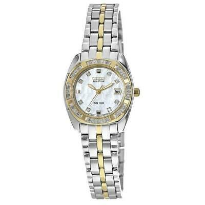 New Citizen Paladion Mother of Pearl Diamond Dial Women's Watch EW1594-55D