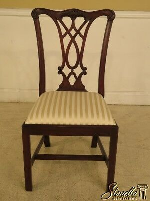 L40590: HENKEL HARRIS Model #107 Chippendale Mahogany Side Chair ~ NEW