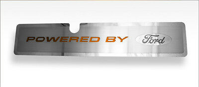 "Radiator Cover With Orange Carbon Fiber ""Ford"" Inlay For 2015-2017 Mustang GT"
