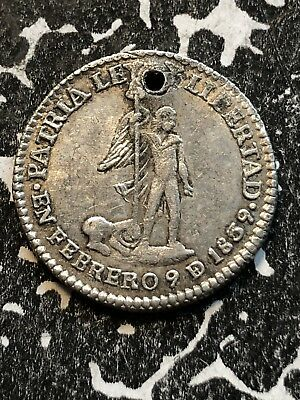 1839 Bolivia Proclamation Coinage Medal 1 Sol Silver! Lot#P008 BRN#17.2