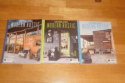 Country Living Modern Rustic Magazines Edition No 8, 9, 10. Vgc