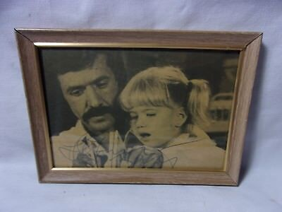 Sonny Bono Autograph in Pen on Framed Paper Clipping  T*