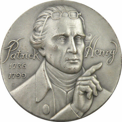 Medallic Art Co. NY. - Patrick Henry Great Americans .999 Silver Medal
