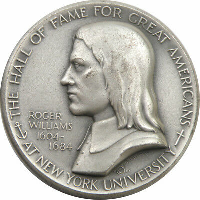 Medallic Art Co. NY. - Roger Williams Great Americans .999 Silver Medal