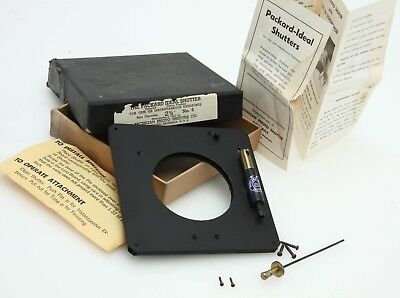 "Packard Ideal No. 6 shutter-2 3/4"" opening with manual, box+hardware, 5"" 369036"