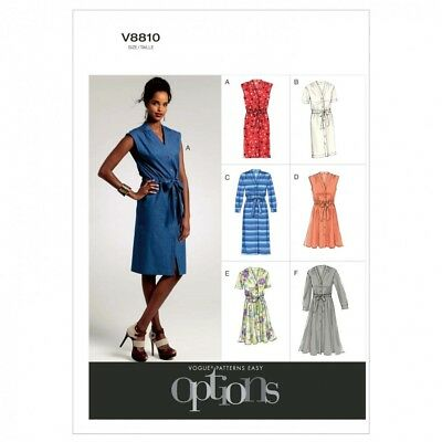 VOGUE LADIES EASY Sewing Pattern 8810 Button Up Dresses & Belt ...