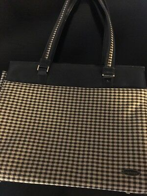 Longaberger Laptop or Tablet tote khaki check