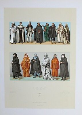 1880 - Orient Trachten Tracht costumes Asien Asia Lithographie lithograph