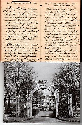 1918 WWI Era Handwritten Diary Craven NJ Georgia Military Academy Man Savannah