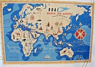 BOAC, QANTAS EMPIRE AIRWAYS POSTER ROUTE MAP Double Sided ... on nok air route map, direct air route map, maldives air route map, thai route map, air canada route map, delta route map, cathay pacific route map, island air route map, tap air portugal route map, tiger air route map, lot polish route map, air niugini route map, ba cityflyer route map, independence air route map, lan ecuador route map, key lime air route map, dragonair route map, biman route map, qatar airways route map,