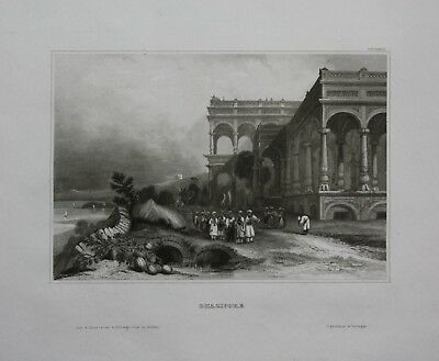 1840 - Ghazipur Ansicht Indien India Asien Asia Stahlstich engraving