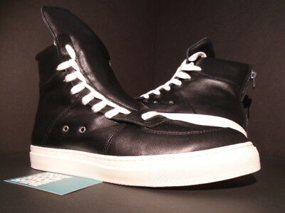 d94e7fc3ce Kris Van Assche Krisvanassche Sneakers With Lacing On Sides Black White 9  9.5 42