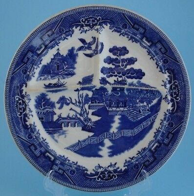 Shenango Blue Willow Divided Grill Plate Restaurant Ware
