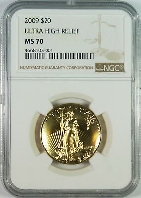 2009 $20 Ultra High Relief Double Eagle NGC MS70